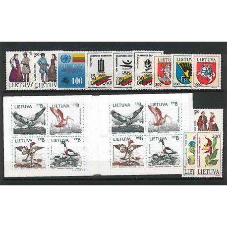Lituania Año 1992 completa, nuevos sellos sin bisagra