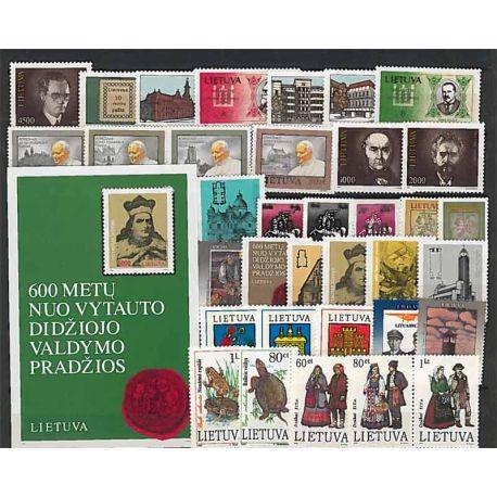 Lituania Año 1993 completa, nuevos sellos sin bisagra