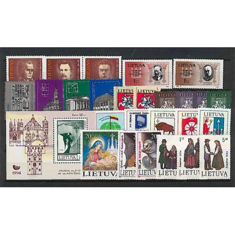 Lituania Año 1994 completa, nuevos sellos sin bisagra