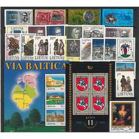 Lituanie Année 1995 complète, timbres neufs sans charnière