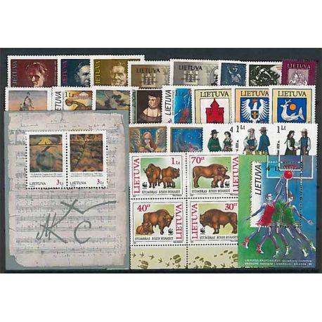 Lituania Año 1996 completa, nuevos sellos sin bisagra