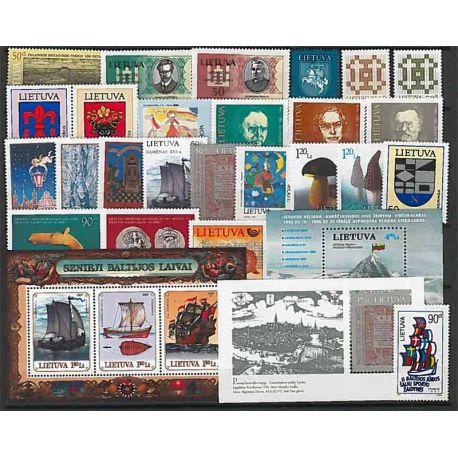 Lituania Año 1997 completa, nuevos sellos sin bisagra
