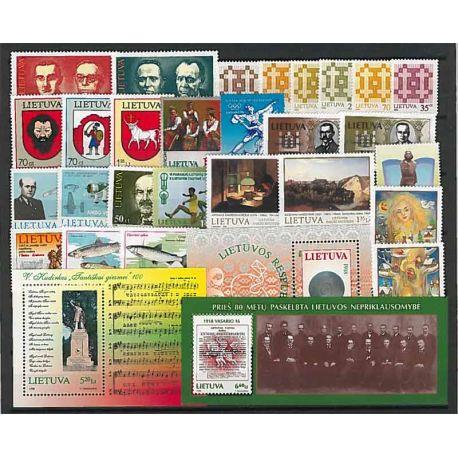 Lituania Año 1998 completa, nuevos sellos sin bisagra