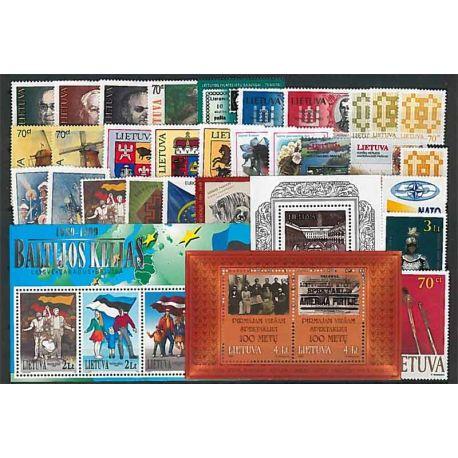 Lituania Año 1999 completa, nuevos sellos sin bisagra