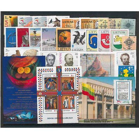 Lituania Año 2000 completa, nuevos sellos sin bisagra