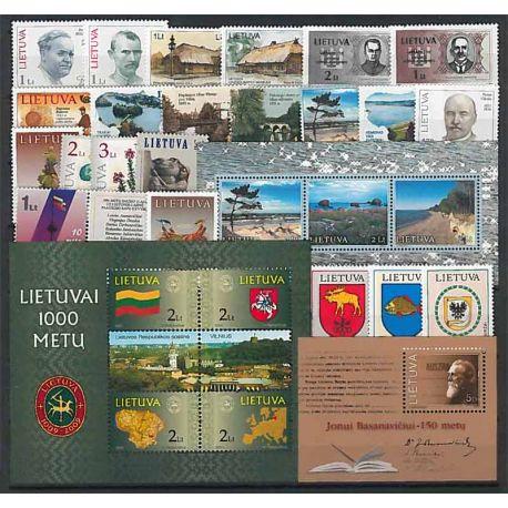 Lituania Año 2001 completa, nuevos sellos sin bisagra