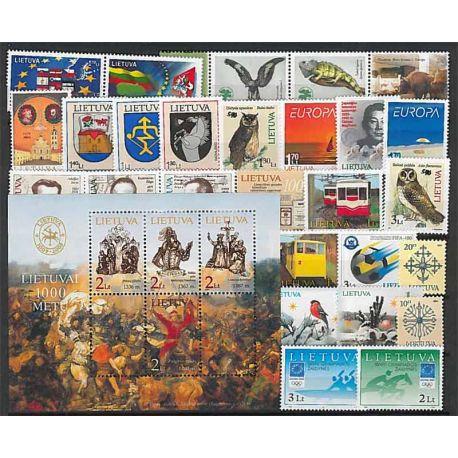 Lituania Año 2004 completa, nuevos sellos sin bisagra