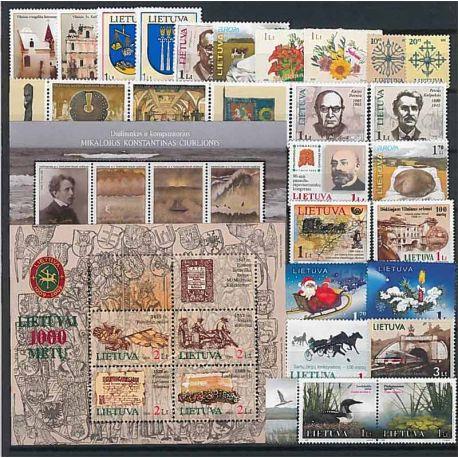 Lituania Año 2005 completa, nuevos sellos sin bisagra