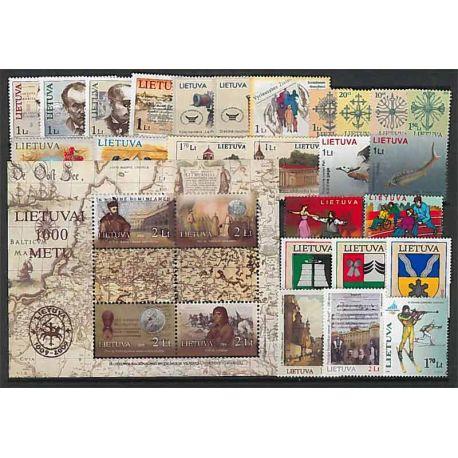 Lituania Año 2006 completa, nuevos sellos sin bisagra
