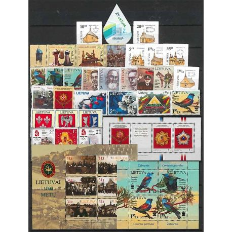 Lituania Año 2008 completa, nuevos sellos sin bisagra