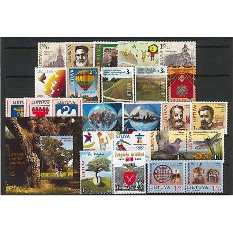 Lituania Año 2010 completa, nuevos sellos sin bisagra