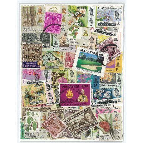 Selangor - 10 verschiedene Briefmarken