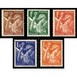 Stamps series of France N° 431/435 unused with hinge