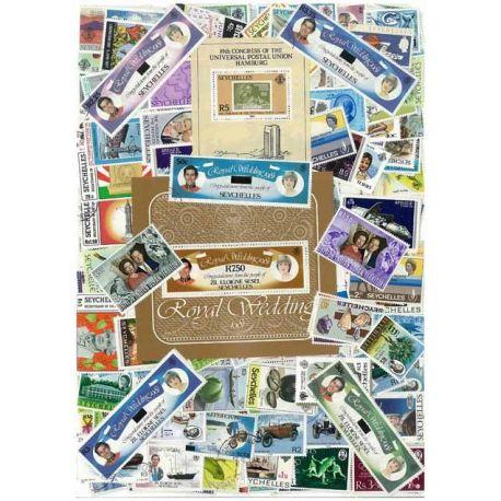 Seychellen - 10 verschiedene Briefmarken