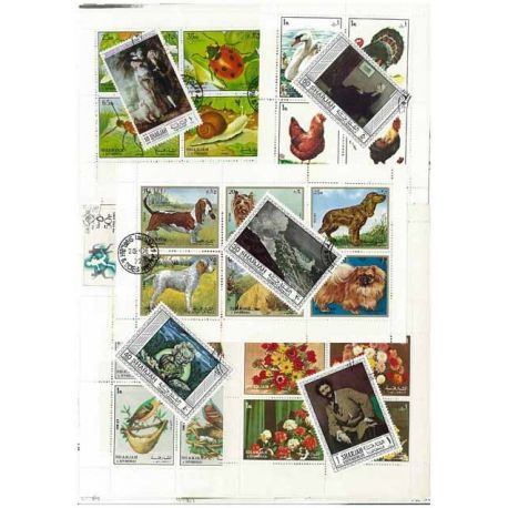 Sharjah - 50 verschiedene Briefmarken