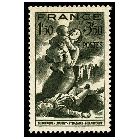Francobolli francesi N ° 584 nuovo con cerniera