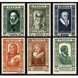 Briefmarken Reihe von France N ° 587/592 mit Scharnier