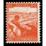 Timbre France N° 736 neuf avec charnière