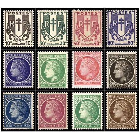 Serie francobolli di Francia N ° 670/681 nuovo con cerniera