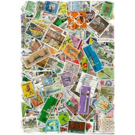 Collection de timbres Singapour oblitérés