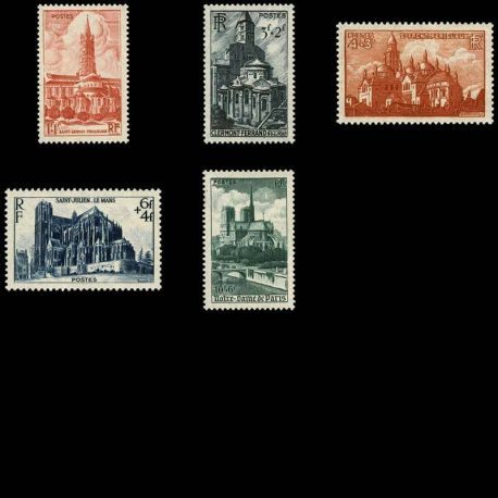 Serie francobolli di Francia N ° 772/776 nuovo con cerniera