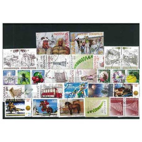 Slovenie - 25 timbres différents