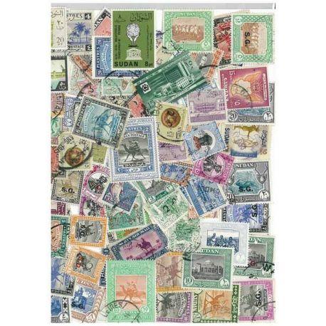 Sudan - 25 verschiedene Briefmarken