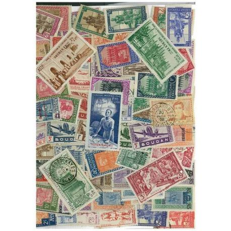 Französisch-Sudan - 25 verschiedene Briefmarken