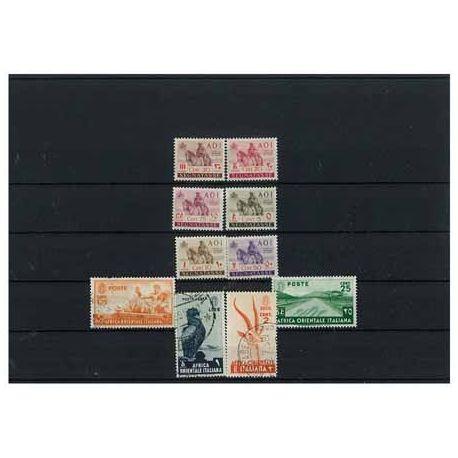 Africa Orientale Italiana - 10 verschiedene Briefmarken