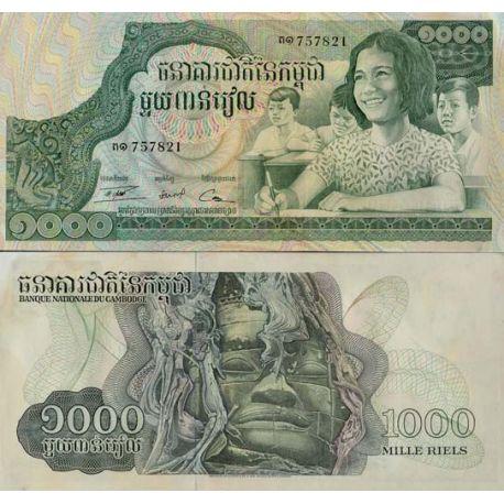Billets de collection Billets banque Cambodge Pk N° 17 - 1000 Riels Billets du Cambodge 2,00 €