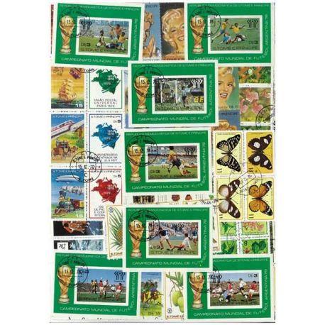 St Pierre - 100 verschiedene Briefmarken