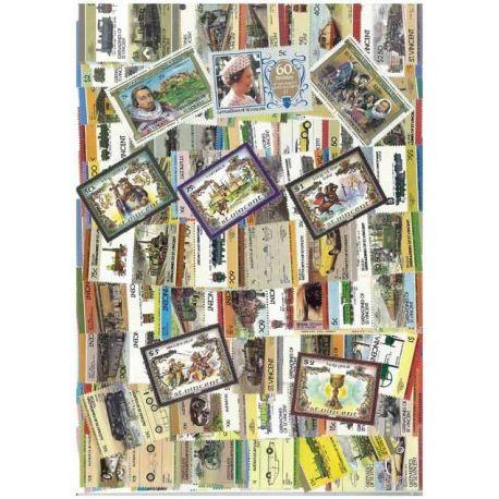 St Vincent - 25 verschiedene Briefmarken