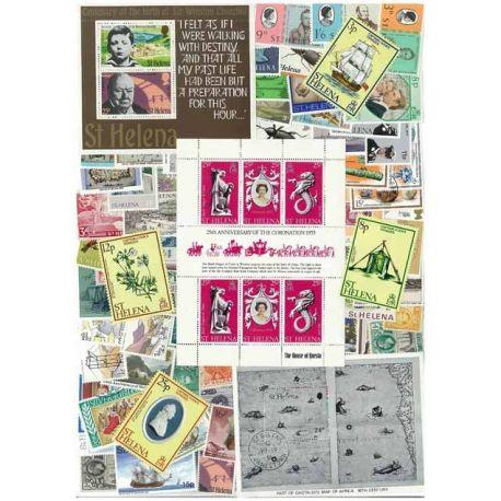 Collection de timbres Ste Helene oblitérés