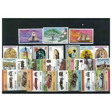 Collection de timbres Ste Lucie oblitérés