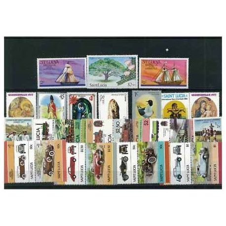 Ste Lucie - 10 verschiedene Briefmarken