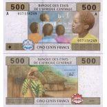 Beautiful banknote Gabon Pick number 406 - 500 FRANC 2002