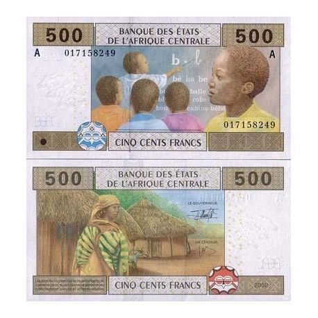 Central Africa Gabon - Pk # 406 - Ticket 500 Francs