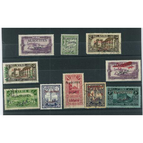 Alaouites - 10 timbres différents