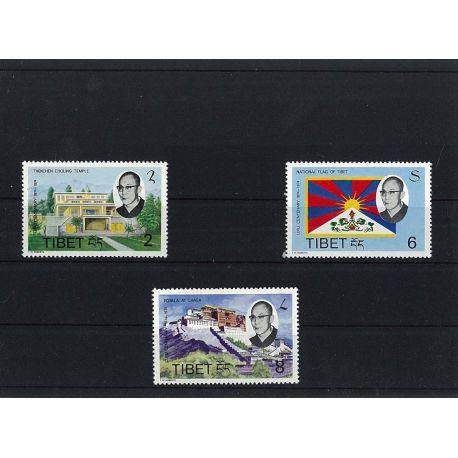 Collection de timbres Tibet oblitérés