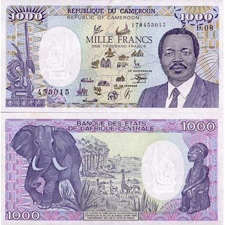 Cameroon - Pk: # 26 - 1000 Franks ticket