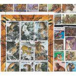 Sammlung Briefmarken Tiger 25 andere Briefmarken