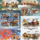 Collection de timbres Lions tous différents