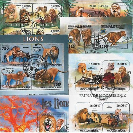 Collection timbres Lions 25 timbres différents