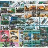Collezione di francobolli coccodrilli cancellati