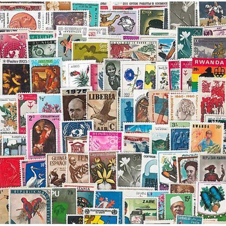 Colección sellos Todos Nuevos Países Grandes Formatos 1000 sellos diferentes