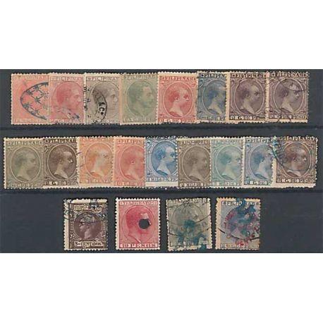 Collezione di francobolli filippine spagnole usati