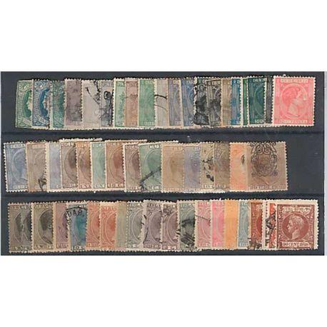 Collezione francobolli Cuba spagnolo 50 francobolli diversi