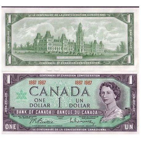 Billets banque Canada Pk N° 84 - 1 Dollar