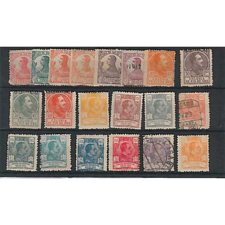 Colección sellos Río de Oro 20 sellos diferentes