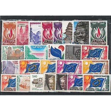 Collection de timbres France oblitérés Service